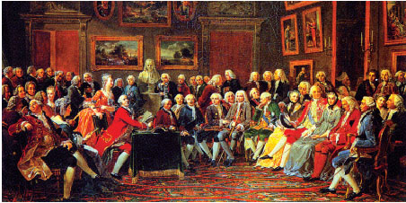 The advocate of the Enlightenment. Voltaire, Montesquieu, Rousseau, and others